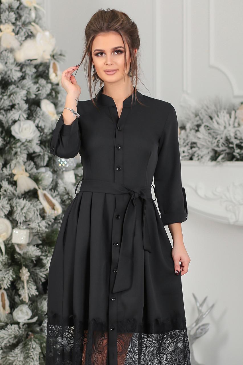 Нарядное черное Платье Элнора