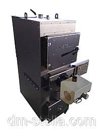 Двухконтурный  пеллетный твердотопливный котел с автоудалением золы 30 кВт