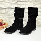Ботинки черные замшевые на меху, фото 3