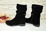 Ботинки черные замшевые на меху, фото 4