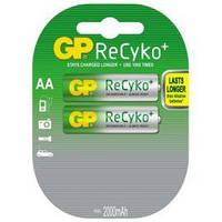 Аккумуляторы GP Batteries AA (R6) 2100mAh NiMh 2шт ReCyko+ (GP210AAHCB-2UEC2),1.2V