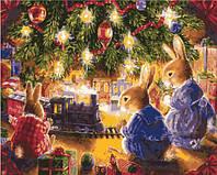 Картина по номерам без коробки Идейка Рождественские подарки Худ Веллер Сьюзан (KHO2452) 40 х 50 см