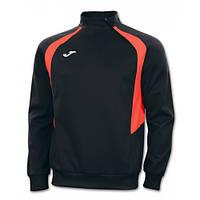 Реглан черно-оранжевый Joma CHAMPION III 100019.120 тренировочный с коротким замком (спортивная кофта )