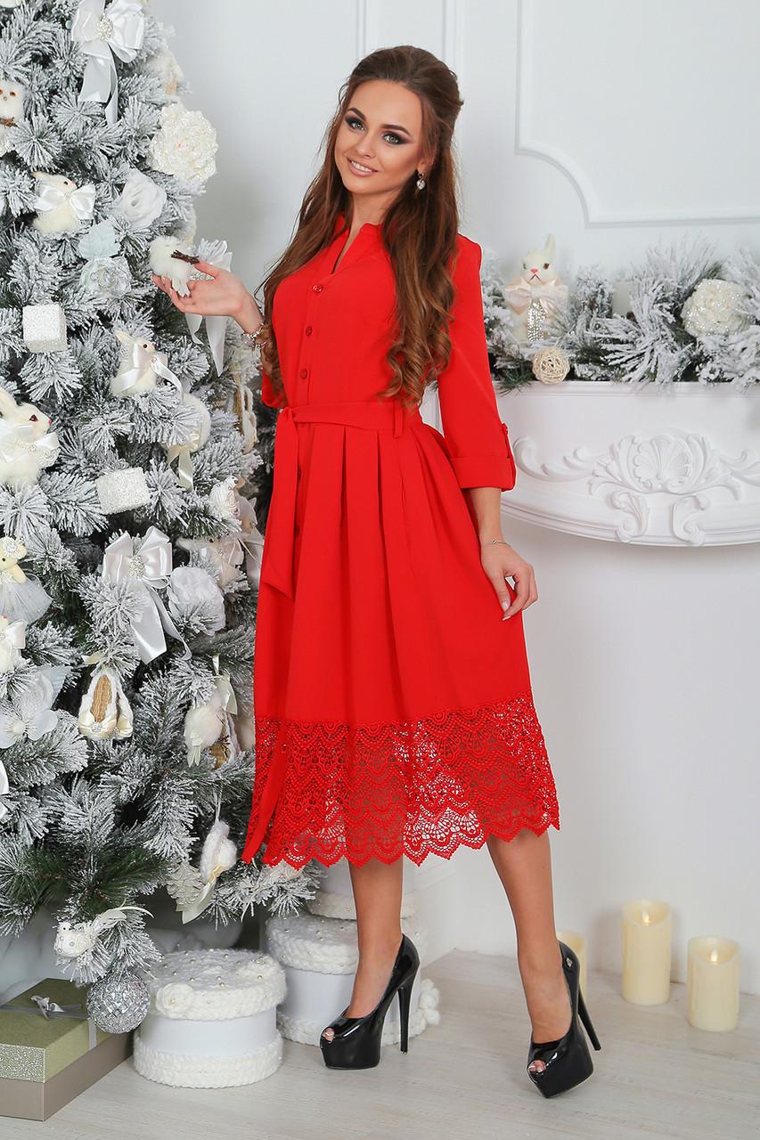 Нарядное красное Платье Элнора
