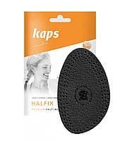 Kaps Halfled Black - Кожаные полустельки для модельной обуви на каблуках, чёрные