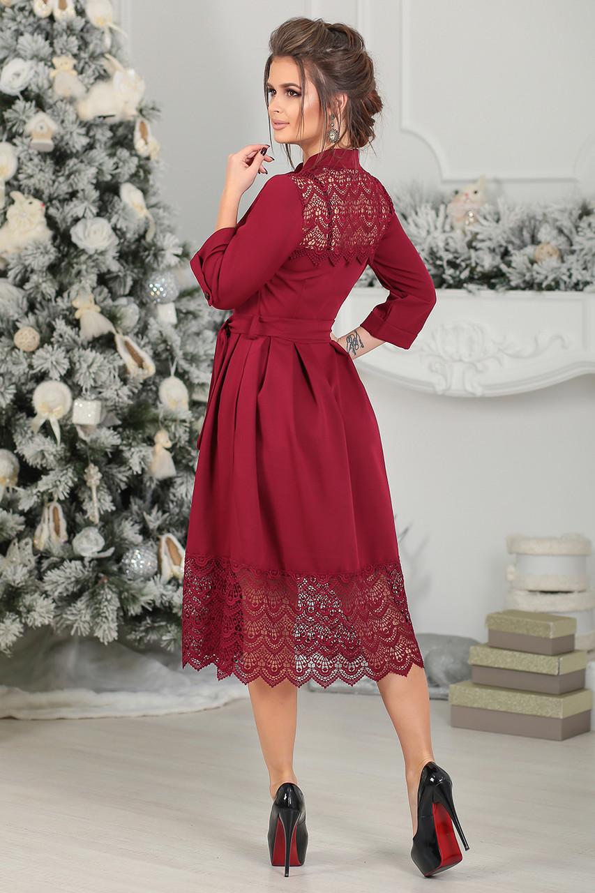 3a8f0be51b6 Нарядное Платье Элнора в цвете марсала - LILIT ODESSA оптово-розничный  магазин женской одежды в