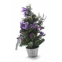 Декоративная настольная ёлка фиолет 40 см
