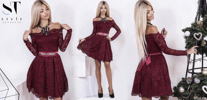 54ba000bab5c Вечернее гипюровое платье А171 - СТИЛЬНАЯ ДЕВУШКА интернет магазин модной  женской одежды в Киеве