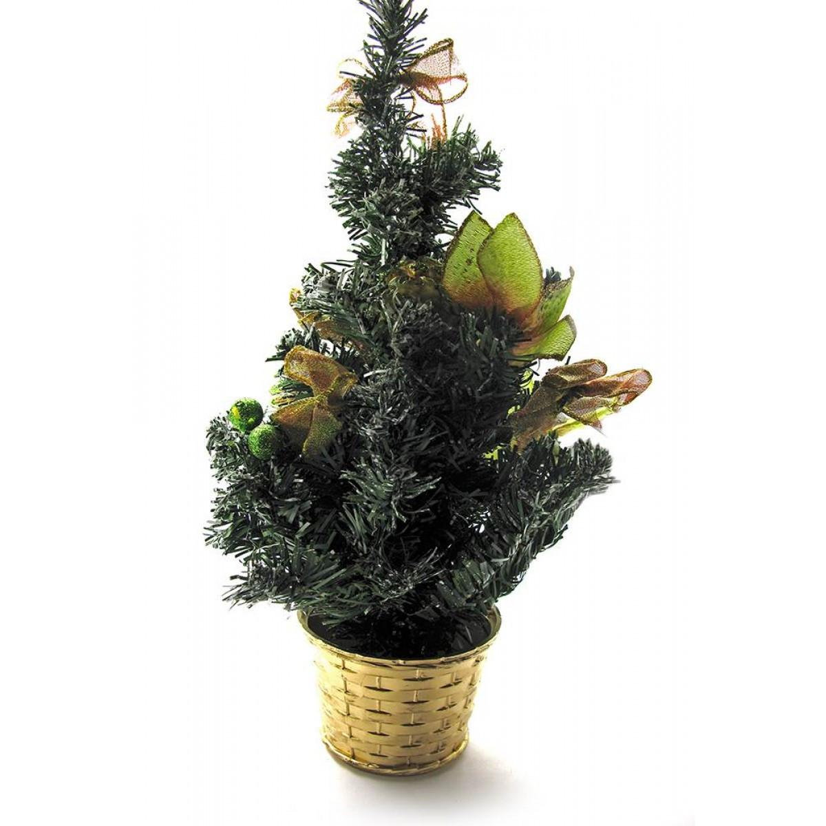 Декоративная настольная ёлка  40 см нежность