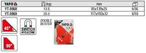 Магнітна струбцина заварки 85х139х25 YATO YT-0868, фото 2