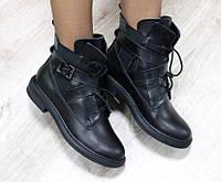 Ботинки женские кожаные черные, фото 1