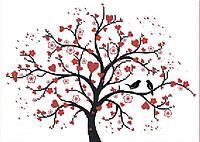 """Набор вышивка бисером """"Дерево любви"""" А4 (частичная зашивка) 29,2*20,8 см"""