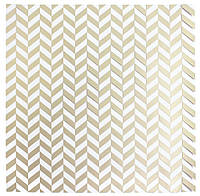 Ацетат - American Crafts - DIY 3 - Herringbone - Gold Foil - 30x30