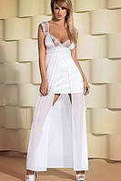 Комплект Obsessive Feelia dress Белый эротический пеньюар