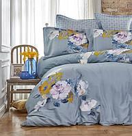 Комплект постельного белья евро Karaca Home сатин   Lenusy yesil