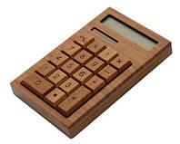 Бамбуковый калькулятор, калькулятор из дерева