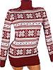 Красный свитер со снежинками 44-46 (в расцветках), фото 3