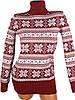 Красный свитер со снежинками 44-46 (в расцветках), фото 4