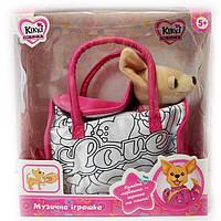 Собачка Кикки музыкальная в сумочке разрисуй сам