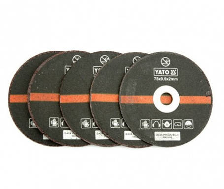Круги отрезные п/металлу 5шт. для пневмо резака (YT-0993) YATO YT-0994, фото 2