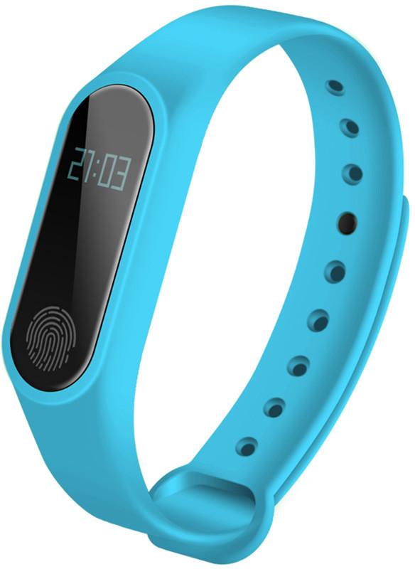 Фитнес браслет M2 Smart Band (черная коробка) Голубой