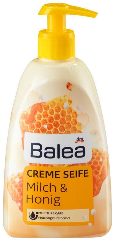 Жидкое крем-мыло Balea с ароматом молока и меда с дозатором 500мл
