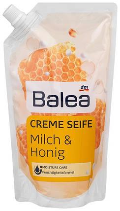 Жидкое крем-мыло Balea с ароматом молока и меда запаска 500мл, фото 2
