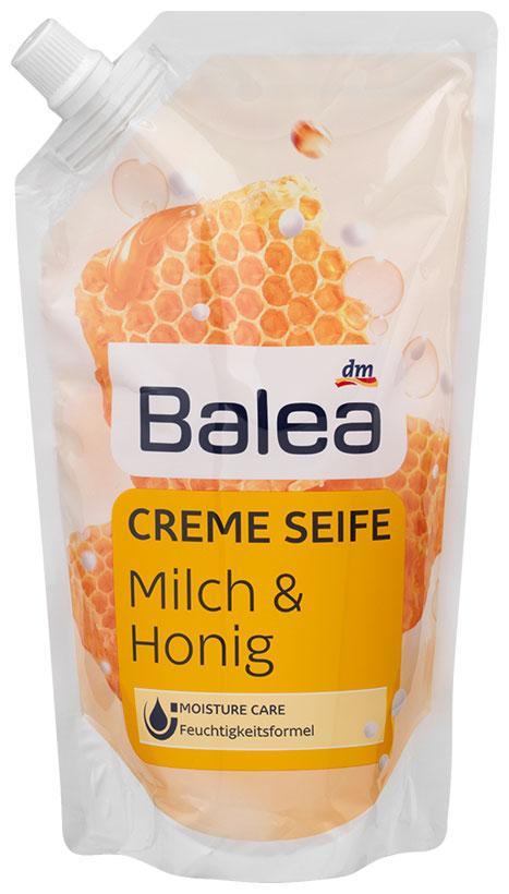 Жидкое крем-мыло Balea с ароматом молока и меда запаска 500мл