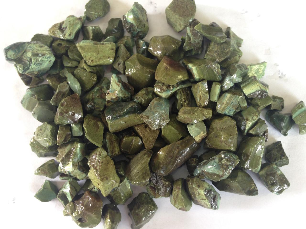 Щебень шлаковый ферросплавный (зелёный) 5-20 мм