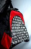 Большая черная спортивная дорожная сумка Адидас с цветными вставками 50*26 (в ассортименте), фото 4