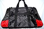 Большая черная спортивная дорожная сумка Адидас с цветными вставками 50*26 (в ассортименте), фото 5