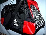 Большая черная спортивная дорожная сумка Адидас с цветными вставками 50*26 (в ассортименте), фото 7