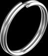 Кільце д/ключів 22мм А4