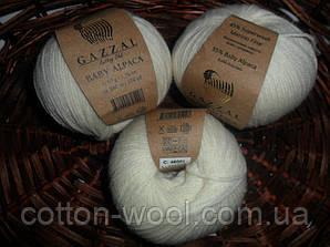 Gazzal Baby Alpaca 46001  55 % Бэби Альпака, 45 % Мериносовая шерсть файн супервош