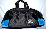 Большая черная спортивная дорожная сумка Адидас с цветными вставками 50*26 (в ассортименте), фото 2