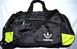 Большая черная спортивная дорожная сумка Адидас с цветными вставками 50*26 (в ассортименте), фото 3