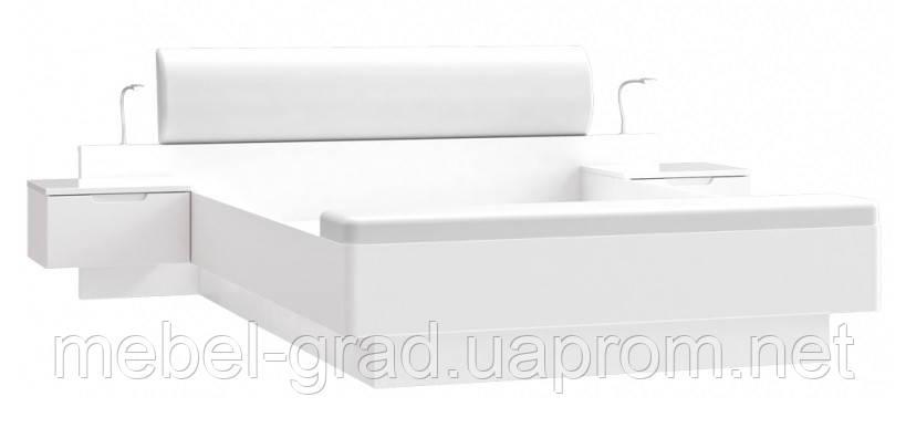 Кровать с прикроватными тумбами STWL163-V29 Starlet White / Старлет Вайт Forte 160х200