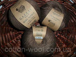 Gazzal Baby Alpaca 46002 какао 55 % Бэби Альпака, 45 % Мериносовая шерсть файн супервош