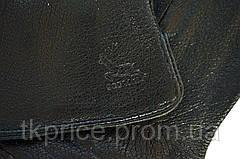 Мужские кожаные перчатки из оленьей кожи на меху кролика, фото 3