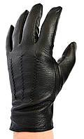 Мужские кожаные перчатки из оленьей кожи на меху кролика