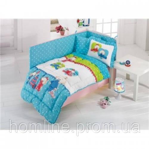 Набор в кроватку для младенцев Kristal Дисней Baby Bebis голубой (6 предметов)