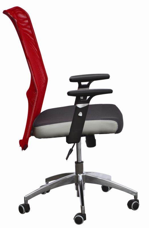 Кресло АЭРО Люкс сиденье Сетка черная Неаполь 23/спинка Сетка красная. Габариты кресла: 65х65х105-118h.