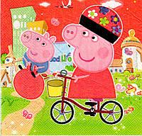 Салфетки бумажные праздничные Свинка Пеппа