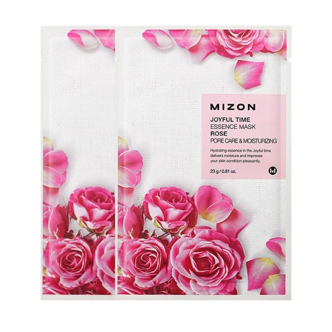 Тканинна маска з екстрактом троянди MIZON joyful time essence mask rose