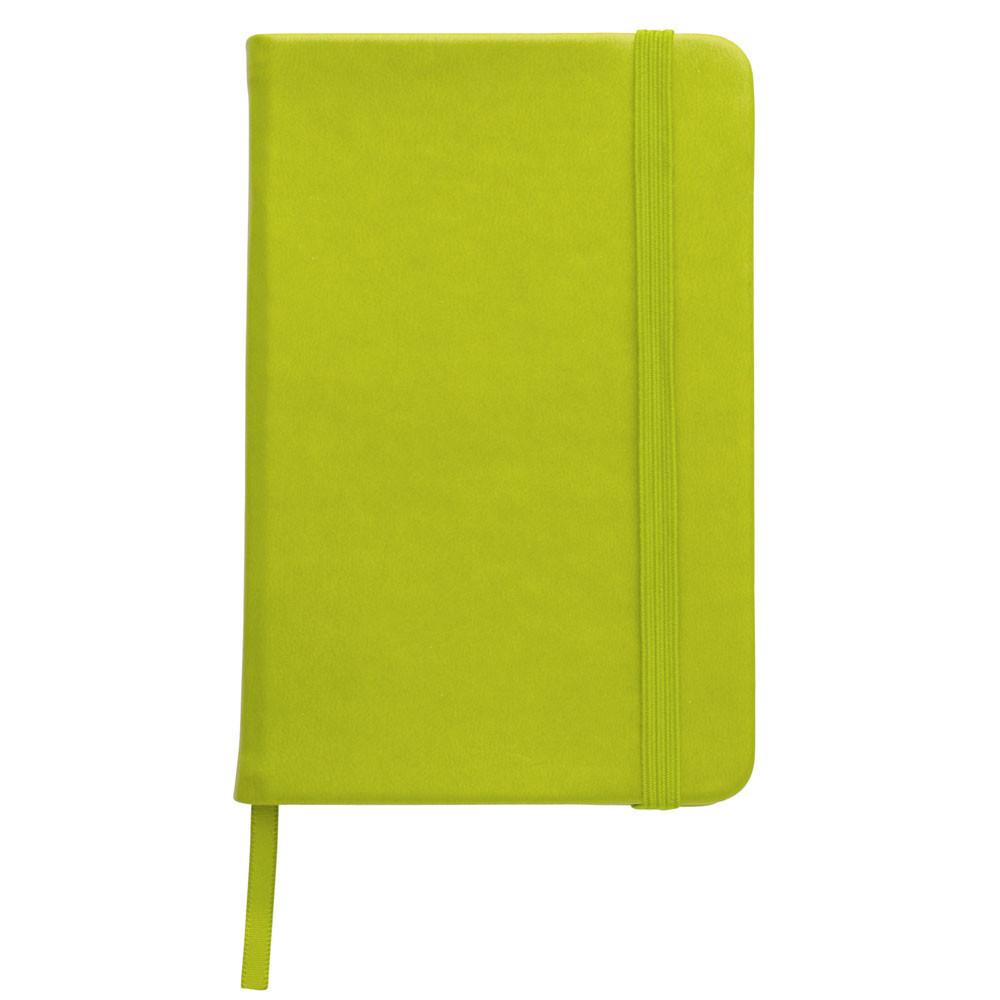 Записна книжка, білий блок в лінійку, кожзам, зелене яблуко