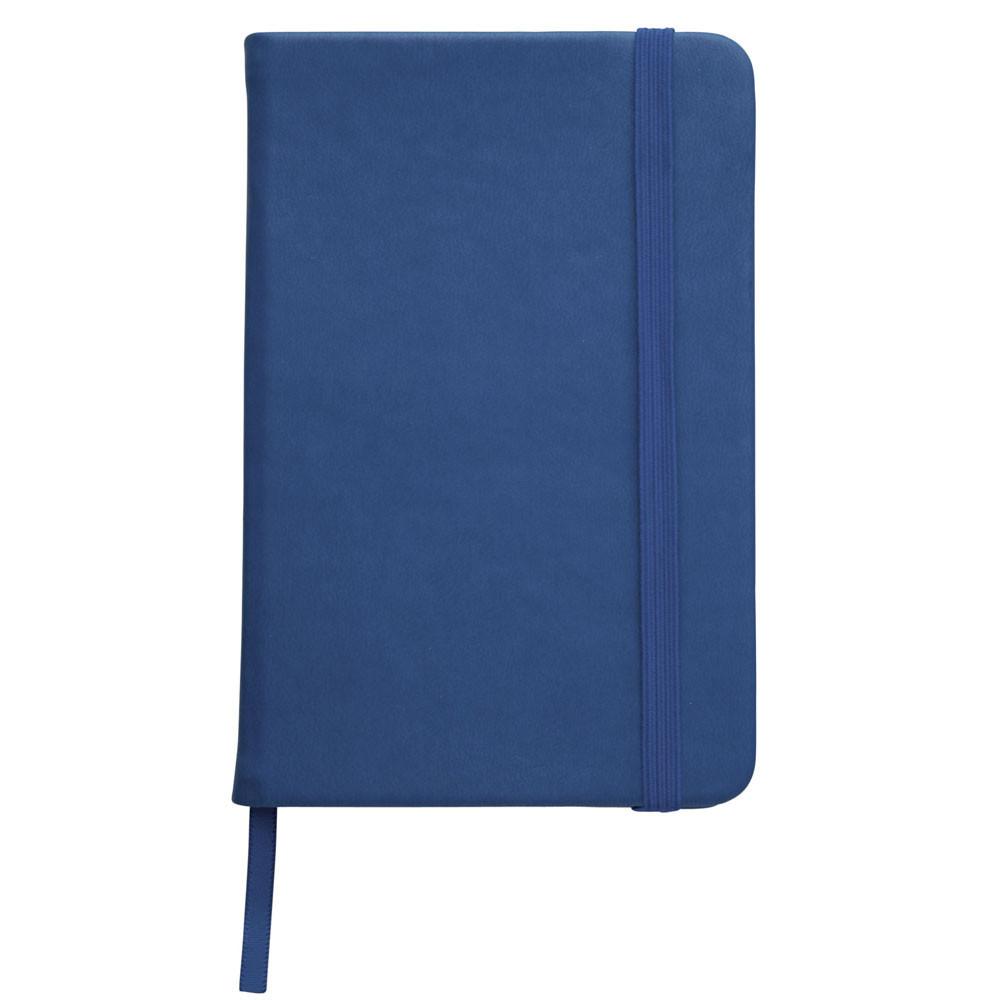 Записна книжка, білий блок в лінійку, кожзам, синя