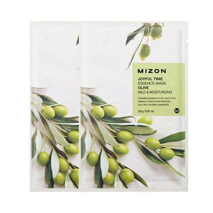 Тканевая маска с экстрактом оливы MIZON joyful time essence mask olive, фото 2