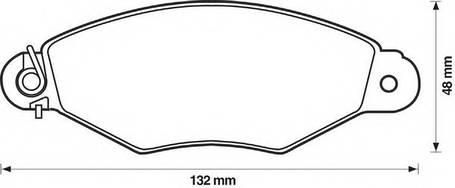 Колодки дискового тормоза (пр-во Jurid), 571931J, фото 2