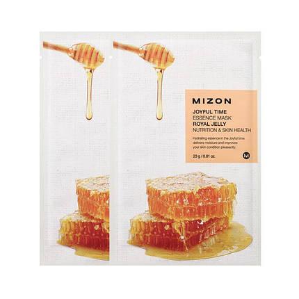 Тканевая маска с экстрактом маточного молочка MIZON joyful time essence mask royal jelly, фото 2