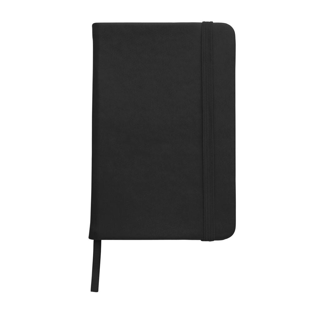 Записная книжка A5, белый блок в линейку, кожзам, черный, от 100 шт